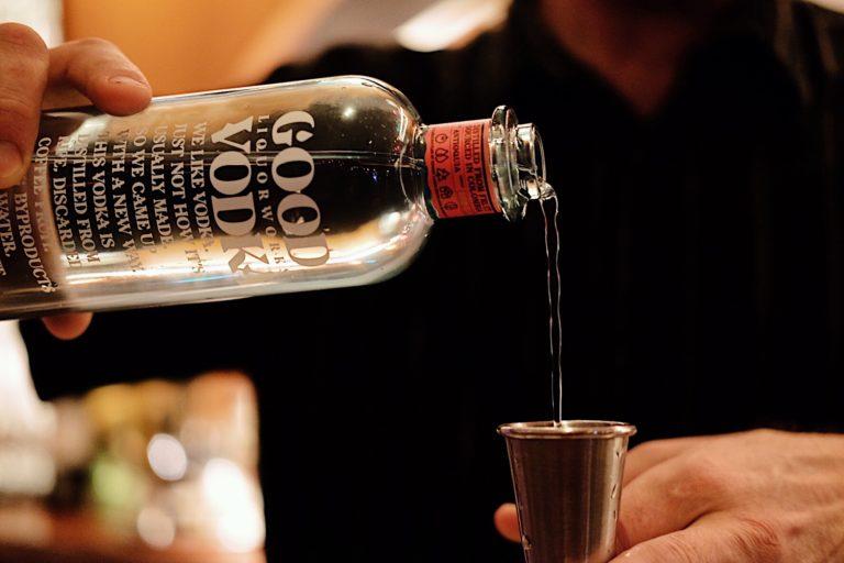 Good Vodka bottle